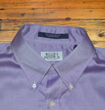 Load image into Gallery viewer, Miller's Provision Co. MEN - SHIRTS - BUTTON DOWNS S Miller's Provision Co., Royal Oxford Sport Shirt, Purple
