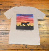 Load image into Gallery viewer, Miller's Provision Co. WOMEN - SHIRTS - SHORT SLEEVE TEES S Miller's Provision Co., Sunset Pointer Painting Short Sleeve V-Neck, Oatmeal