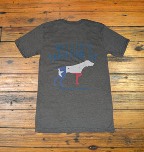 Miller's Provision Co. MEN - SHIRTS - SHORT SLEEVE T-SHIRTS S Miller's Provision Co., Texas Pointer Short Sleeve T-Shirt, Charcoal