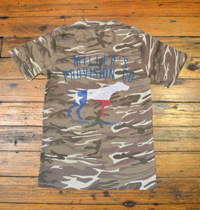 Miller's Provision Co. MEN - SHIRTS - SHORT SLEEVE T-SHIRTS S Miller's Provision Co., Texas Pointer Short Sleeve T-Shirt, Desert Camo