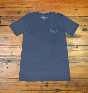 Miller's Provision Co. MEN - SHIRTS - SHORT SLEEVE T-SHIRTS S Miller's Provision Co., The Story of Ben Lilley Short Sleeve T-Shirt, Heather Navy