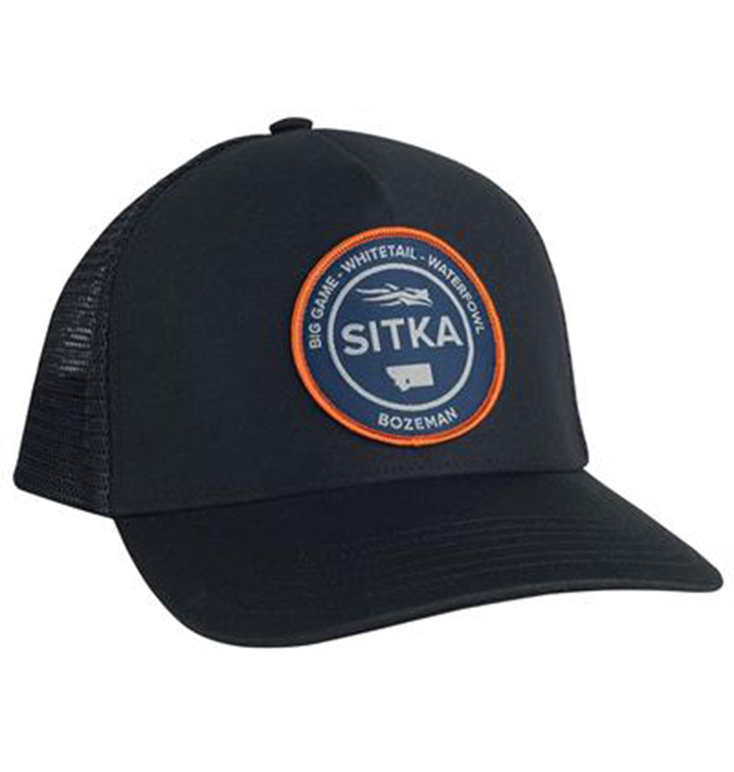 Sitka ACCESSORIES - HATS - TRUCKER Sitka, Seal Five Panel Patch Trucker, Sitka Black
