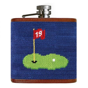 Smathers & Branson HOME - DRINKWARE - Flask Smathers & Branson, 19th Hole Needlepoint Flask