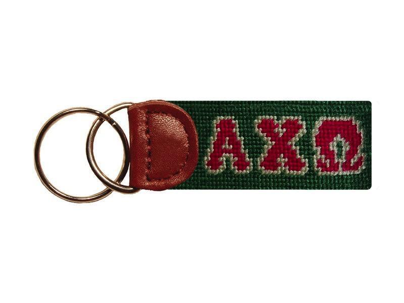 Smathers & Branson ACCESSORIES - KEY FOBS - GREEK Smathers & Branson, Alpha Chi Omega Needlepoint Key Fob