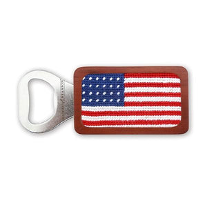 Smathers & Branson HOME - DRINKWARE - TOOLS Smathers & Branson, American Flag Needlepoint Bottle Opener