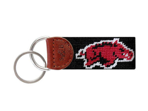 Smathers & Branson ACCESSORIES - KEY FOBS - COLLEGIATE Smathers & Branson, Arkansas Needlepoint Key Fob
