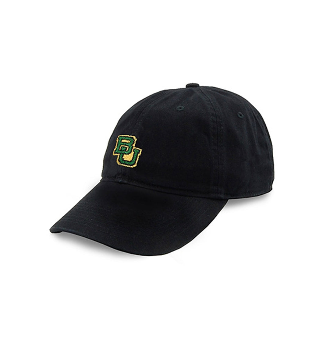 Smathers & Branson ACCESSORIES - HATS - COLLEGIATE Smathers & Branson, Baylor Needlepoint Hat, Black