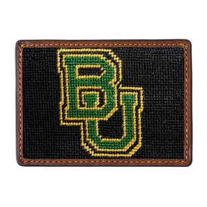 Smathers & Branson ACCESSORIES - WALLETS - CARD HOLDER Smathers & Branson, Baylor University Needlepoint Card Wallet