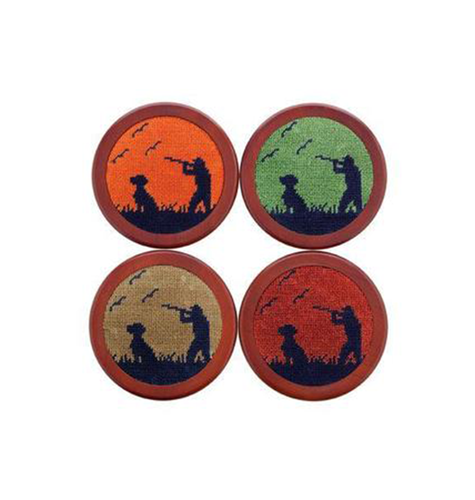 Smathers & Branson HOME - COASTERS Smathers & Branson, Bird Hunter Needlepoint Coaster Set