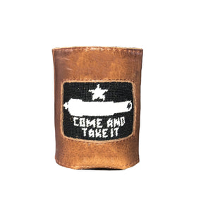 Smathers & Branson ACCESSORIES - KOOZIES - SCENE Smathers & Branson, Come And Take It Needlepoint Can Cooler