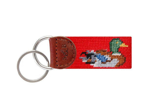 Smathers & Branson ACCESSORIES - KEY FOBS - SCENE Smathers & Branson, Ducks Needlepoint Key Fob