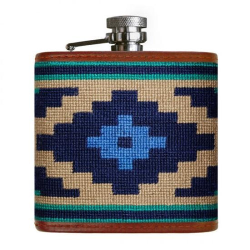 Smathers & Branson HOME - DRINKWARE - Flask Smathers & Branson, Gaucho Needlepoint Flask