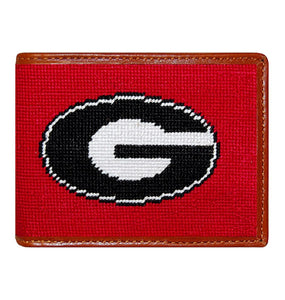 Smathers & Branson ACCESSORIES - WALLETS - BIFOLDTRIFOLD Smathers & Branson, Georgia Needlepoint Bi-Fold, Red