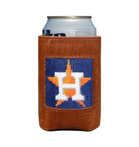 Smathers & Branson ACCESSORIES - KOOZIES - SCENE Smathers & Branson, Houston Astros Needlepoint Can Cooler