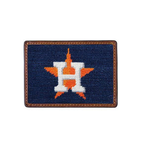 Smathers & Branson ACCESSORIES - WALLETS - CARD HOLDER Smathers & Branson, Houston Astros Needlepoint Card Wallet