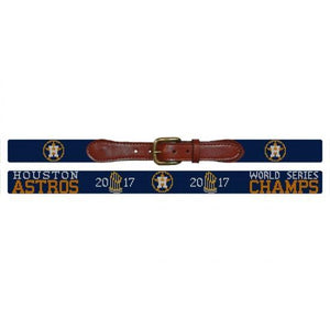 Smathers & Branson ACCESSORIES - BELTS - NEEDLEPOINT Smathers & Branson, Houston Astros World Series Needlepoint Belt