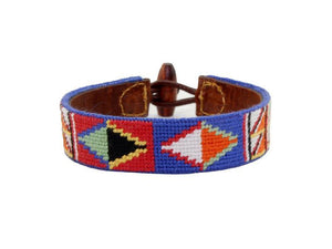 Smathers & Branson ACCESSORIES - BRACELETS - LEATHER Smathers & Branson, Massai Needlepoint Bracelet