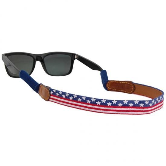 Smathers & Branson ACCESSORIES - SUNGLASS STRAPS Smathers & Branson, Old Glory Needlepoint Sunglass Straps