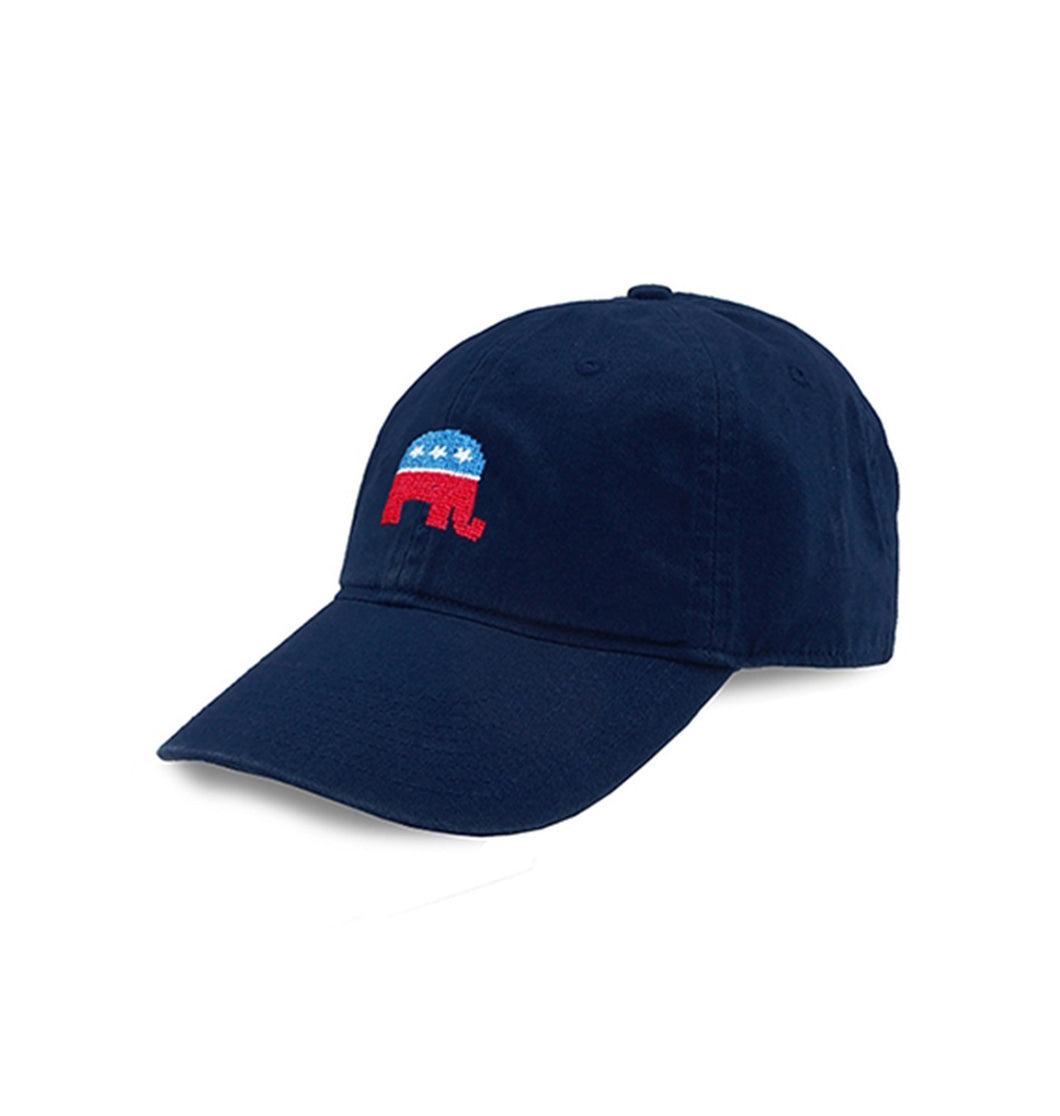 Smathers & Branson ACCESSORIES - HATS Smathers & Branson, Republican Needlepoint Hat