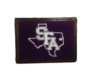 Smathers & Branson ACCESSORIES - WALLETS - CARD HOLDER Smathers & Branson, SFA Needlepoint Card Wallet