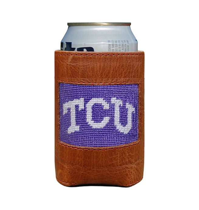 Smathers & Branson ACCESSORIES - KOOZIES - COLLEGIATE Smathers & Branson, TCU Needlepoint Can Cooler