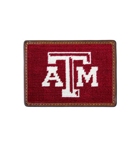 Smathers & Branson ACCESSORIES - WALLETS - CARD HOLDER Smathers & Branson, Texas A&M Needlepoint Card Wallet