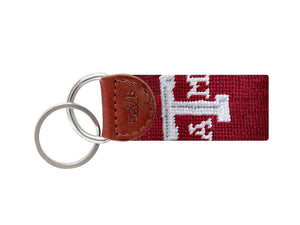 Smathers & Branson ACCESSORIES - KEY FOBS - COLLEGIATE Smathers & Branson, Texas A&M Needlepoint Key Fob