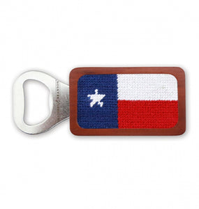 Smathers & Branson HOME - DRINKWARE - TOOLS Smathers & Branson, Texas Flag Needlepoint Bottle Opener