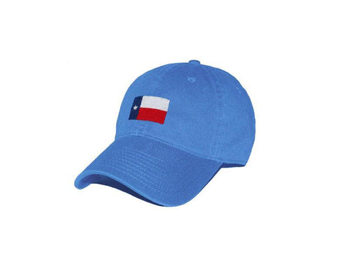 Smathers & Branson ACCESSORIES - HATS - BASEBALL Smathers & Branson, Texas Flag Needlepoint Hat, Royal