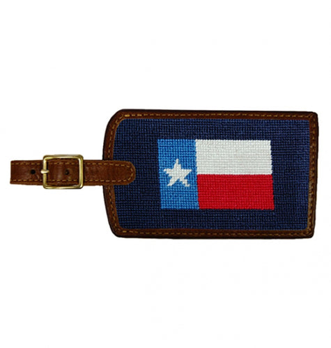Smathers & Branson ACCESSORIES - TRAVEL - LUGGAGE TAGS Smathers & Branson, Texas Flag Needlepoint Luggage Tag