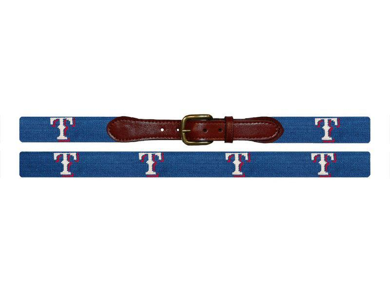 Smathers & Branson ACCESSORIES - BELTS - NEEDLEPOINT Smathers & Branson, Texas Rangers Needlepoint Belt