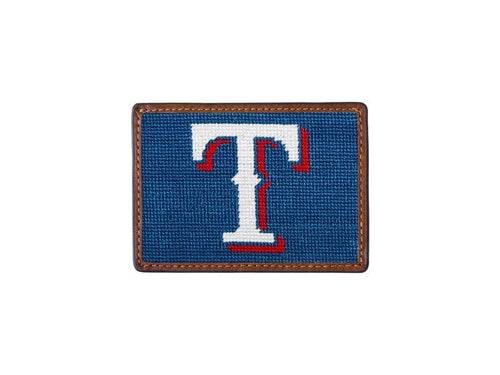 Smathers & Branson ACCESSORIES - WALLETS - CARD HOLDER Smathers & Branson, Texas Rangers Needlepoint Card Wallet