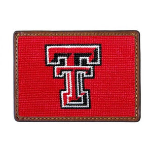 Smathers & Branson ACCESSORIES - WALLETS - CARD HOLDER Smathers & Branson, Texas Tech University Needlepoint Card Wallet