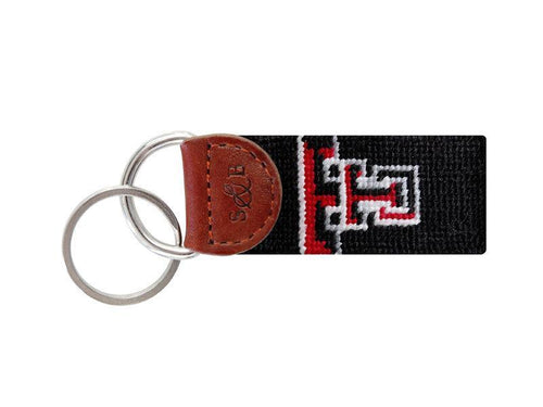 Smathers & Branson ACCESSORIES - KEY FOBS - COLLEGIATE Smathers & Branson, Texas Tech University Needlepoint Key Fob