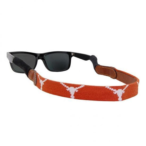 Smathers & Branson ACCESSORIES - SUNGLASS STRAPS Smathers & Branson, University of Texas Needlepoint Sunglass Straps, Burnt Orange