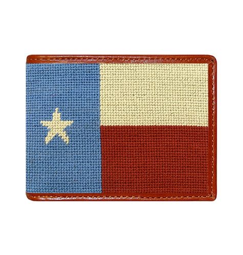 Smathers & Branson ACCESSORIES - WALLETS - BIFOLDTRIFOLD Smathers & Branson, Vintage Texas Flag Needlepoint Wallet