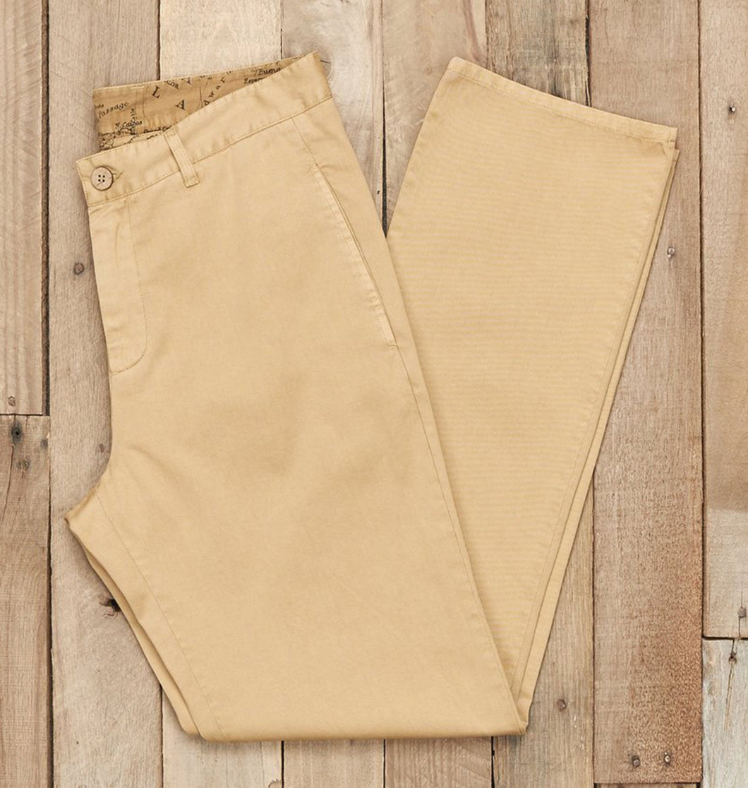 Southern Marsh MEN - BOTTOMS - PANTS Southern Marsh, Seawash Grayton Twill Pant, Dark Khaki