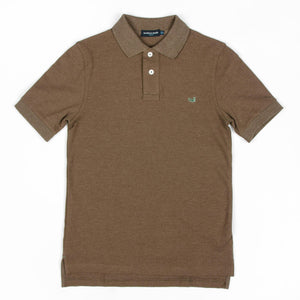 Southern Marsh KIDS - BOYS - POLOS Southern Marsh, Youth Stonewall Heathered Polo, Stone Brown