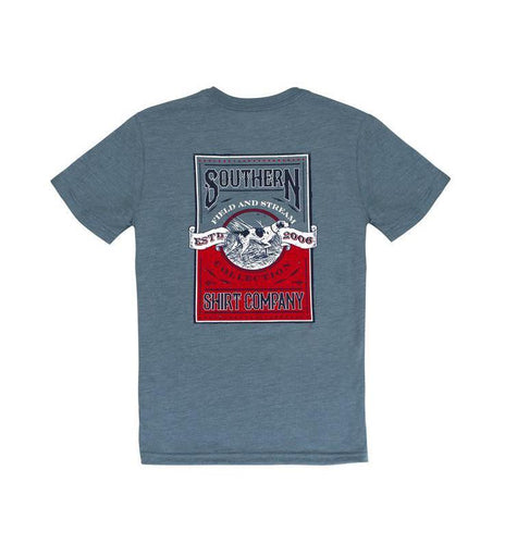 Southern Shirt KIDS - BOYS - T-SHIRTS Southern Point, Boys on Point SS T-Shirt, Blue Mirage