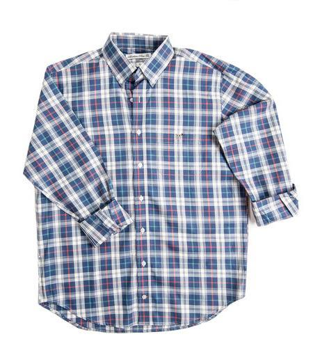 Southern Point Co MEN - SHIRTS - BUTTON DOWNS Southern Point, Hadley Shirt, Blue Night Plaid