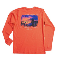 Load image into Gallery viewer, Southern Point Co MEN - SHIRTS - LONG SLEEVE T-SHIRTS Southern Point, Sunrise Long Sleeve T-Shirt, Red