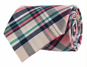 Southern Proper ACCESSORIES - NECKWEAR - TIES Southern Proper, Cotton Madras Plaid Tie