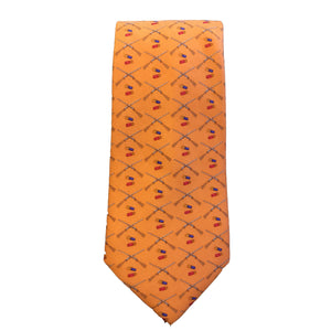 Southern Proper ACCESSORIES - NECKWEAR - TIES Southern Proper, Shotgun and Shells Tie, Orange