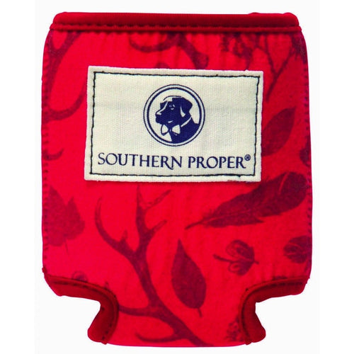 Southern Proper ACCESSORIES - KOOZIES - SCENE Southern Proper, Signs of the Season Coozie, Rhubarb