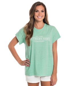Southern Shirt WOMEN - SHIRTS - SHORT SLEEVE TEES Southern Shirt, Comfy Crewneck Short Sleeve T-Shirt, Aqua Green