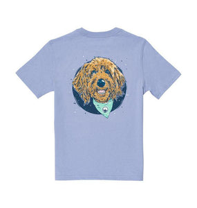 Southern Shirt KIDS - GIRLS - T-SHIRTS Southern Shirt, Girls Molly Doodle SS T-Shirt, Frost Blue