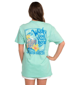 Southern Shirt WOMEN - SHIRTS - SHORT SLEEVE TEES Southern Shirt, Wish You Were Here Short Sleeve T-Shirt, Beach Glass