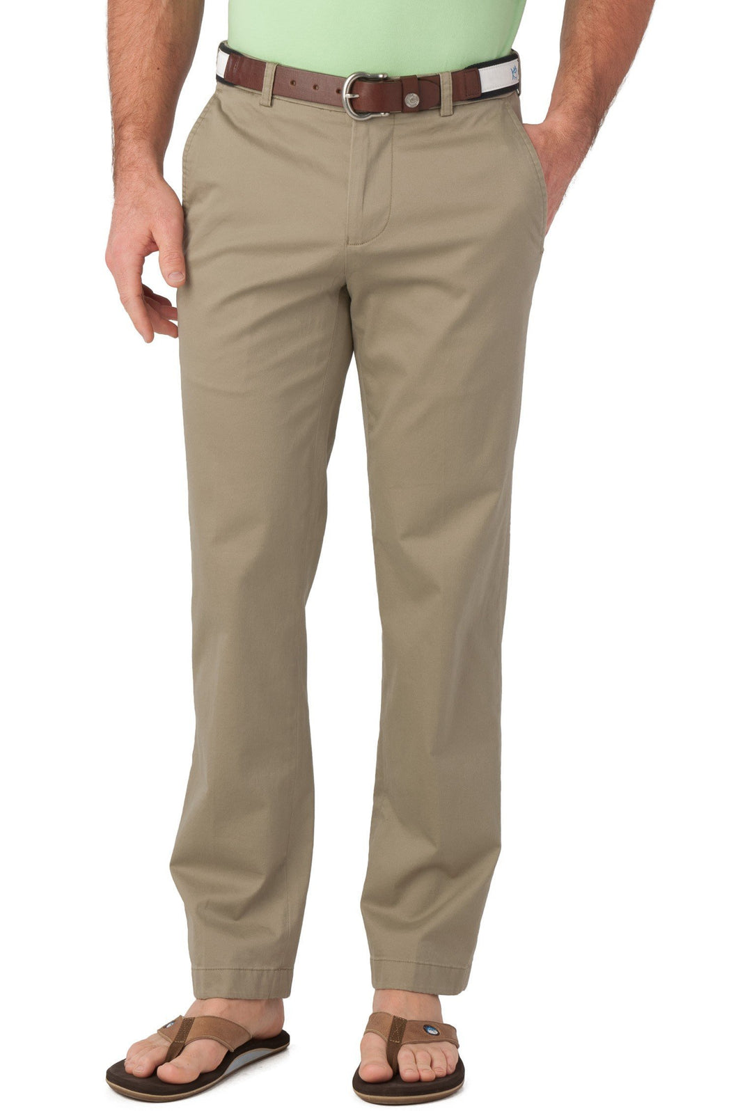 Southern Tide MEN - PANTS - DRESS PANTS Southern Tide, Summer Weight Channel Marker Classic Fit Pant, Sandstone Khaki