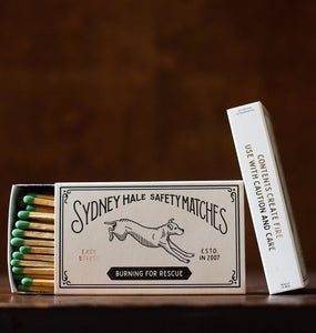 Sydney Hale Co HOME - MATCHES Sydney Hale Co, Burning For Rescue Matchbox