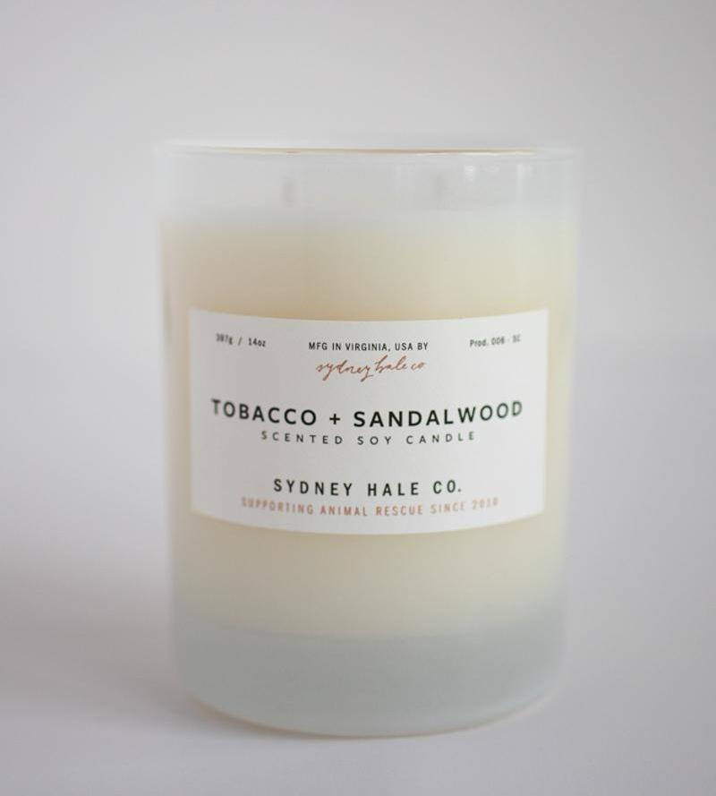 Sydney Hale Co HOME - CANDLES Sydney Hale Co, Tobacco and Sandalwood Candle